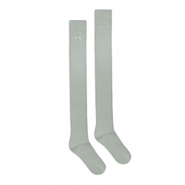 Bamboo gray overknee socks with bow