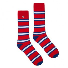Red stripes socks