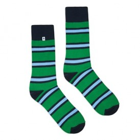 Skarpetki w zielone w paski 4lck
