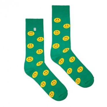 Green smile Socks 4lck