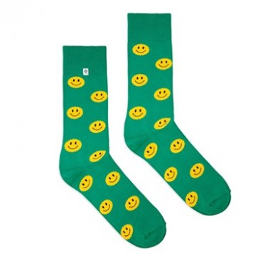 Green smile Socks 4lck