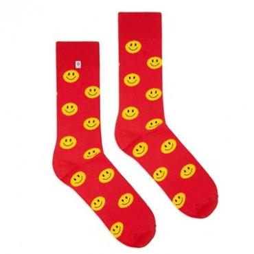 Skarpetki Smile czerwony 4lck