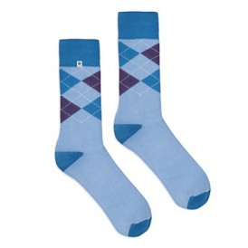 Diamonds light blue socks