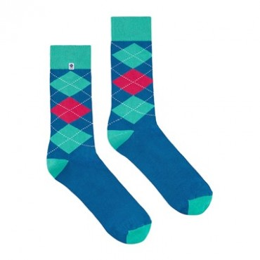 Blue pink diamonds Socks 4lck