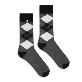 Gray diamonds Socks 4lck