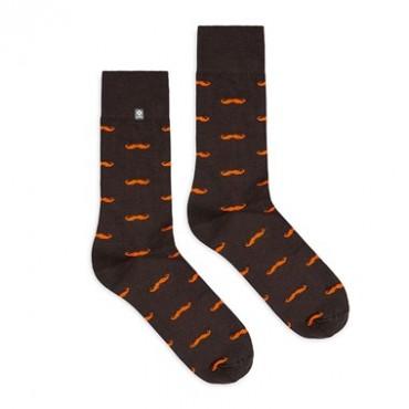 Mustache socks 4lck